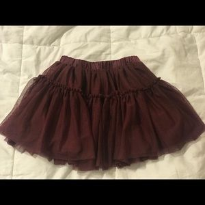 Old navy maroon skirt size 5t